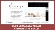 Blog ve Mağaza Teması Summer-Surf Beach Grunge