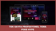 Tek Sayfa Profesyonel Tema Pixie Hype